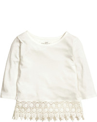 H&M Top With Lace Pink Kids