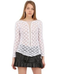Isabel Marant Lace Up Lace Long Sleeved Top