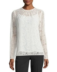 Michl michl kors long sleeve stretch lace t shirt medium 6860576