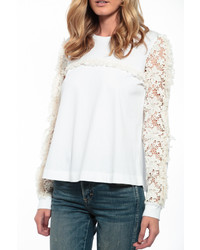 See by Chloe See By Chlo Lace Sleeve Top