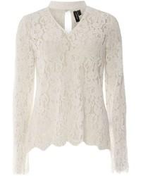 Vero Moda White Lace Choker T Shirt
