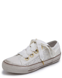 Vicky flower lace sneakers medium 271970