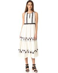 Cotton leaf maxi dress medium 1139801