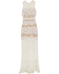 Guipure lace maxi dress off white medium 1191269