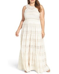 Plus size tiered lace maxi dress medium 3722976