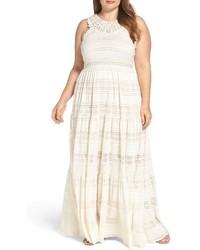 Tiered lace maxi dress medium 3722976