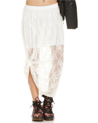 Hip Hip Juniors Lace Illusion Maxi Skirt