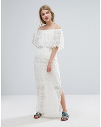 Vila Lace Detail Maxi Skirt Co Ord