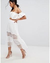 Boohoo Lace Insert Maxi Skirt