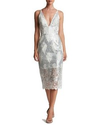 Angela sequin lace midi dress medium 1210794