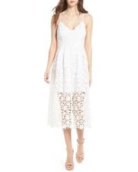 Astr the label lace midi dress medium 3662705