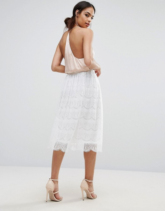 42 Boohoo Lace Midi Skirt