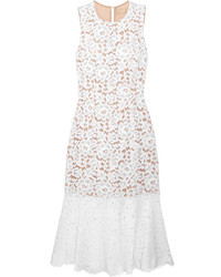 Michael Kors Michl Kors Collection Cotton Blend Corded Lace Dress White