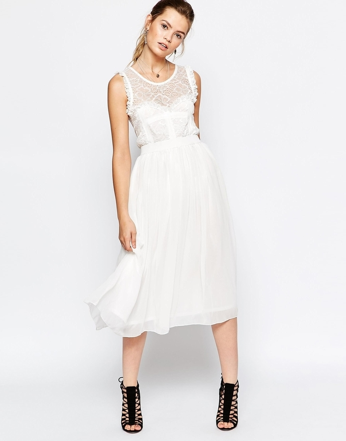 navy midi dress with tulle skirt where to buy