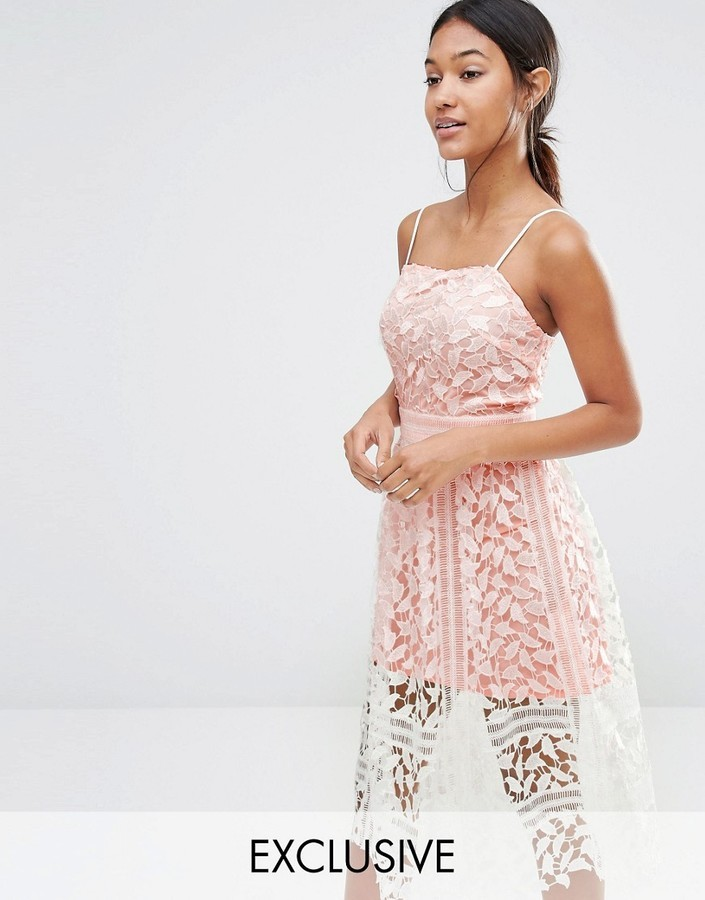 53 Boohoo Premium Lace Cami Midi Dress