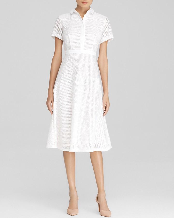 32a41d972087 ... White Lace Midi Dresses Lafayette 148 New York Theresa Midi Shirt Dress  Bloomingdales ...