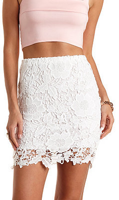 Charlotte Russe Floral Lace Pencil Skirt | Where to buy & how to wear