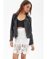 Forever 21 Crochet Lace Midi Skirt
