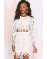 For Love & Lemons Guava Lace Skirt