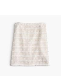 J.Crew Petite Mini Skirt In Fringy Lace