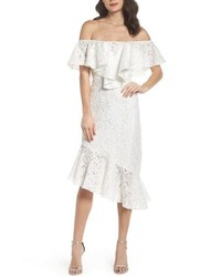 C/MEO COLLECTIVE Cmeo More To Give Off The Shoulder Midi Dress