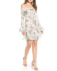 Endless Rose Guipure Lace Off The Shoulder Minidress