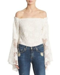 Airlie Santorini Off The Shoulder Lace Bodysuit