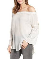 Billy T Off The Shoulder Gauze Blouse