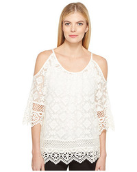 Karen Kane Cold Shoulder Lace Top