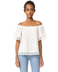 BB Dakota Curren Lace Off The Shoulder Top