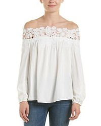 Dobe Do Be Off The Shoulder Lace Trim Top