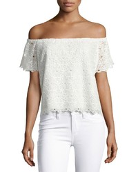 Amanda Uprichard Firenze Lace Off The Shoulder Top White