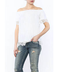 Hailey Co Lace Off Shoulder Top
