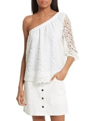 Harmony one shoulder lace top medium 3761419