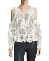 Three floor Icelandic Cold Shoulder Lace Top