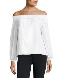 Rag & Bone Jean Drew Off The Shoulder Cotton Top