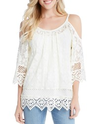 Karen Kane Lace Cold Shoulder Top