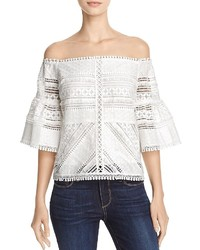 Lucy Paris Lace Off The Shoulder Blouse