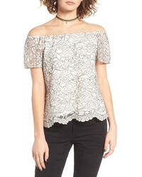 Lace off the shoulder top medium 1195811