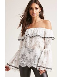 Forever 21 Lace Off The Shoulder Top