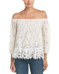 BCBGMAXAZRIA Lace Off The Shoulder Top