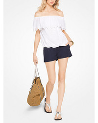 Michael Kors Michl Kors Cotton Off The Shoulder Top