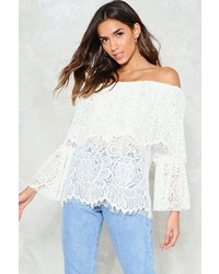 Nasty Gal Nastygal Face Off Lace Top
