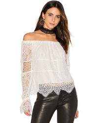 Off Shoulder Lace Top In White