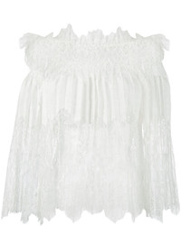 Ermanno Scervino Off Shoulders Lace Blouse
