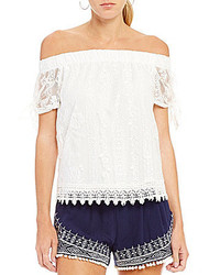 I.N. San Francisco Off The Shoulder Lace Top