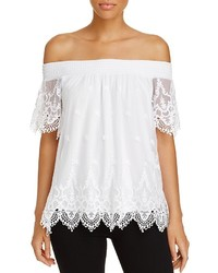 Design History Off The Shoulder Lace Top