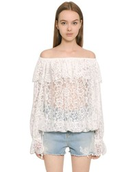Off the shoulder techno lace top medium 3706336