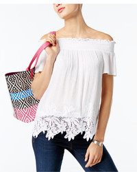 INC International Concepts Petite Off The Shoulder Top Created For Macys