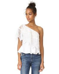 Place Nationale Le Cannet Off Shoulder Lace Top